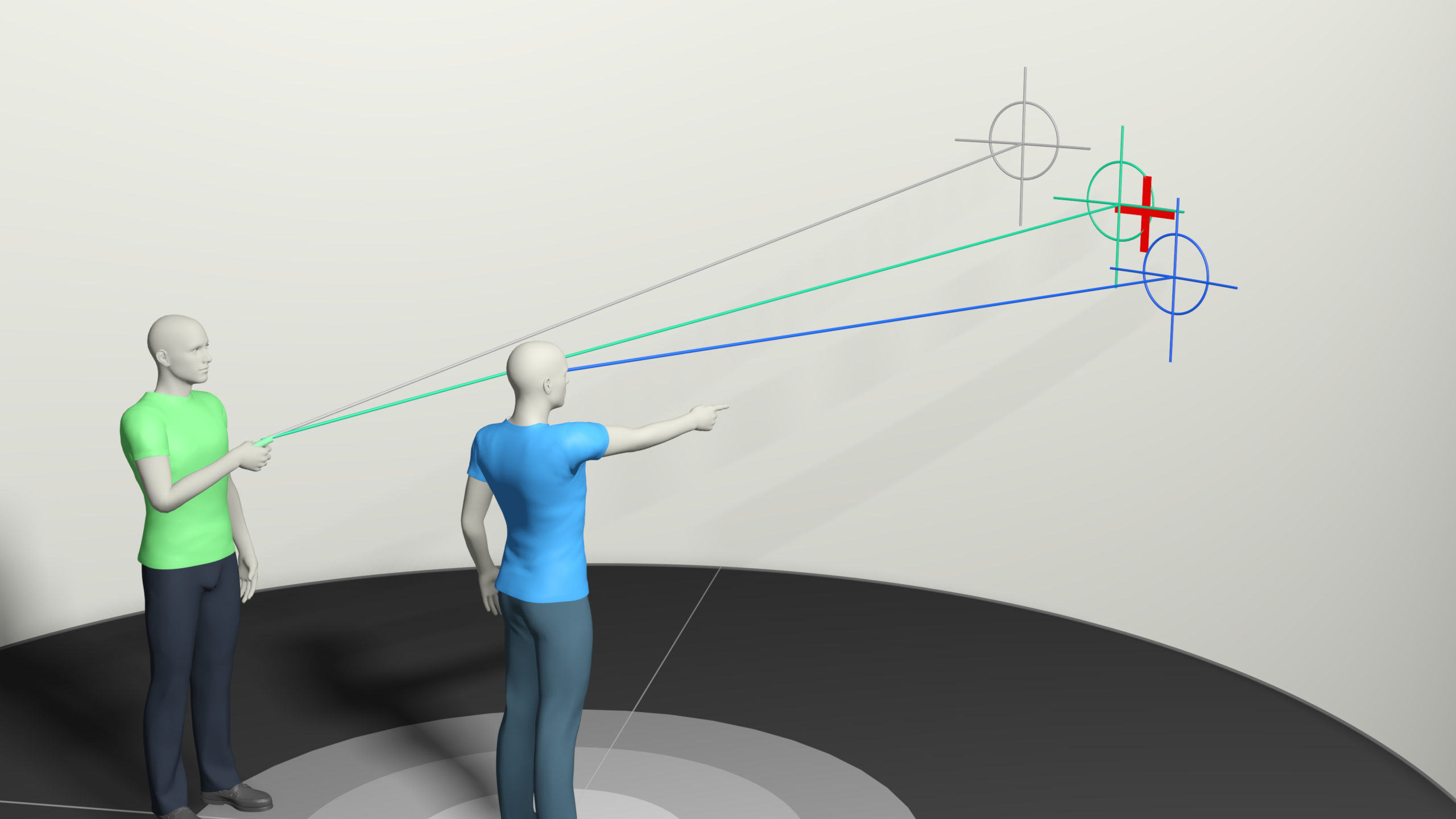 Improving Humans' Ability to Interpret Deictic Gestures in Virtual Reality