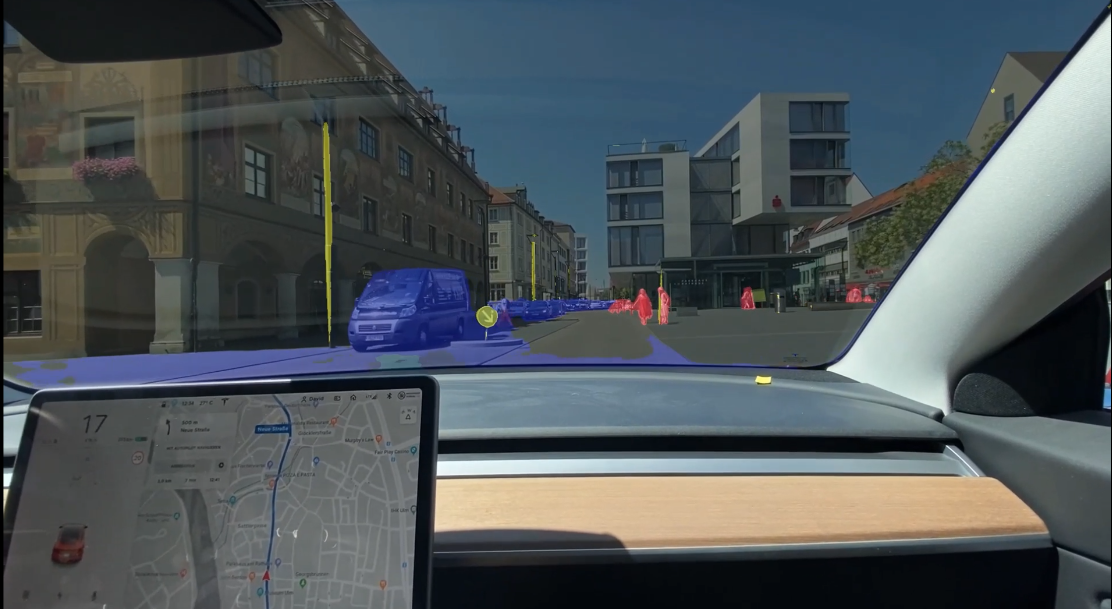 Effects of Semantic Segmentation Visualization on Trust, Situation Awareness, and Cognitive Load in Highly Automated Vehicles