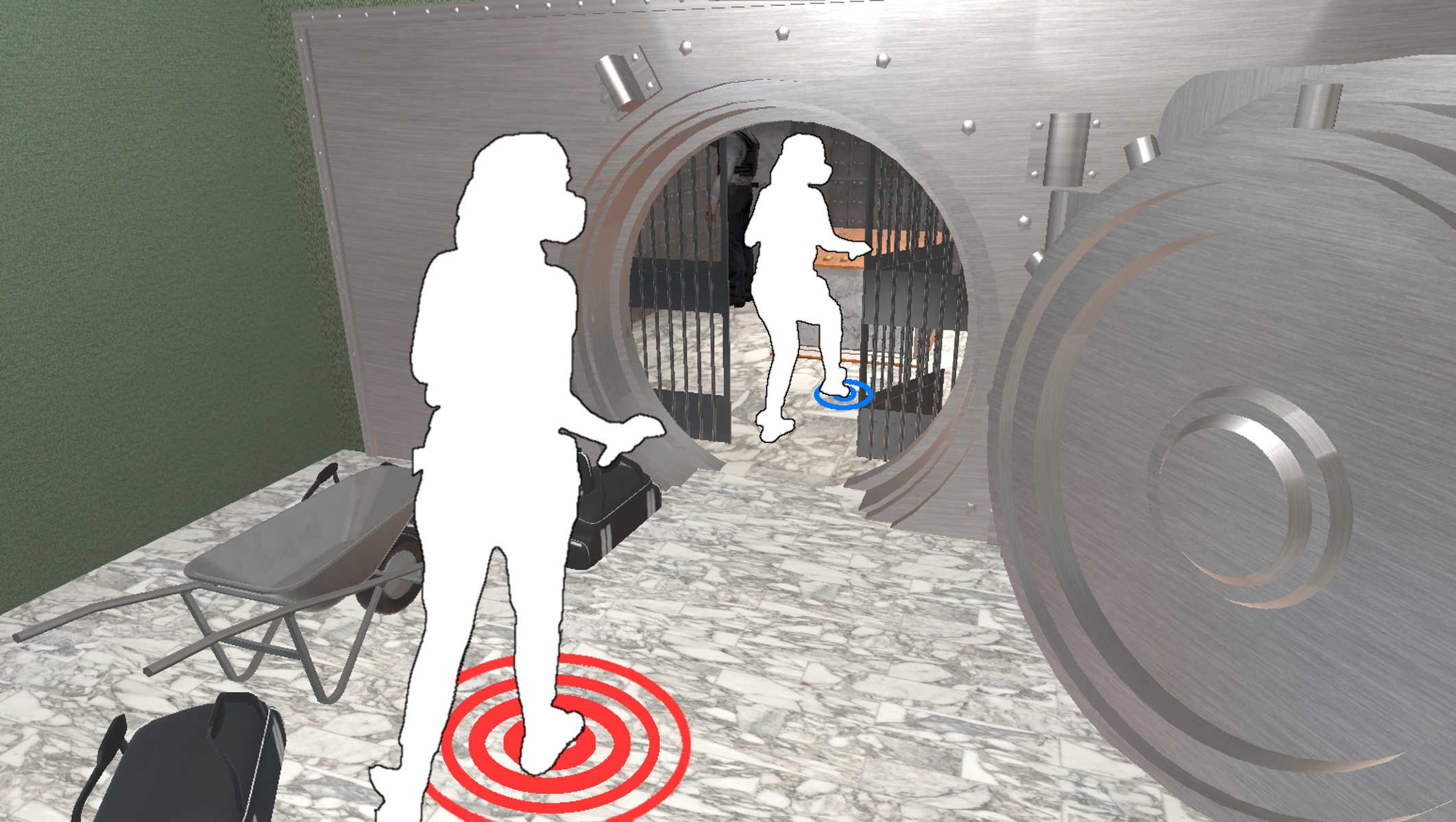 VRsneaky: Stepping into an Audible Virtual World with Gait-Aware Auditory Feedback