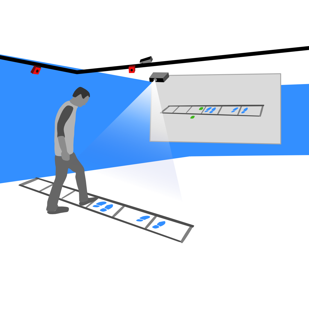 VirtualLadder: Using Interactive Projections for Agility Ladder Training